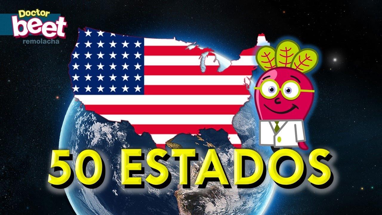🇺🇸 LOS 50 ESTADOS Y BANDERAS DE ESTADOS UNIDOS Geo Mapas - YouTube