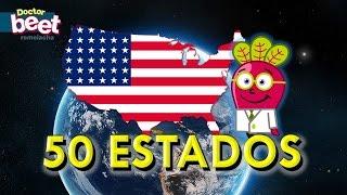 Los 50 Estados Y Banderas De Estados Unidos Geo Mapas Youtube