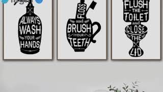 Bathroom Toothbrush Toilet Funny Quotes Art Canvas Painting Nordic Posters Prints Wall Pictures