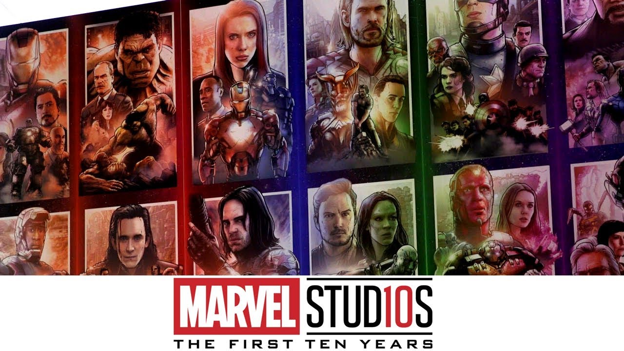 DRAWING 10 YEARS OF THE MARVEL CINEMATIC UNIVERSE!