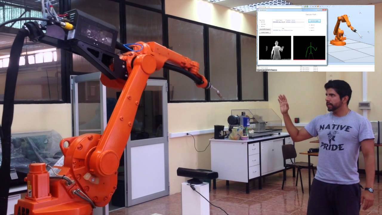 Kinect Based Trajectory Teaching For Industrial Robots
