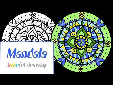 speed-coloring---coloriage-mandala-n°6-!