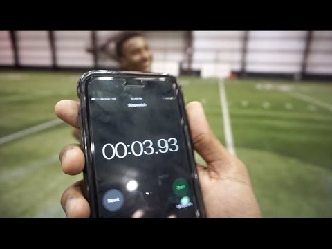 THE FASTEST 40 YARD DASH EVER!