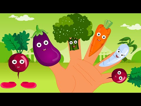 Vegetables Finger Family Song | Finger Family Collection And Nursery Rhymes