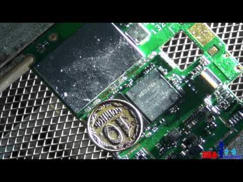 Lenovo A820 не включается.Отбитые пятаки под флешкой. Часть 1