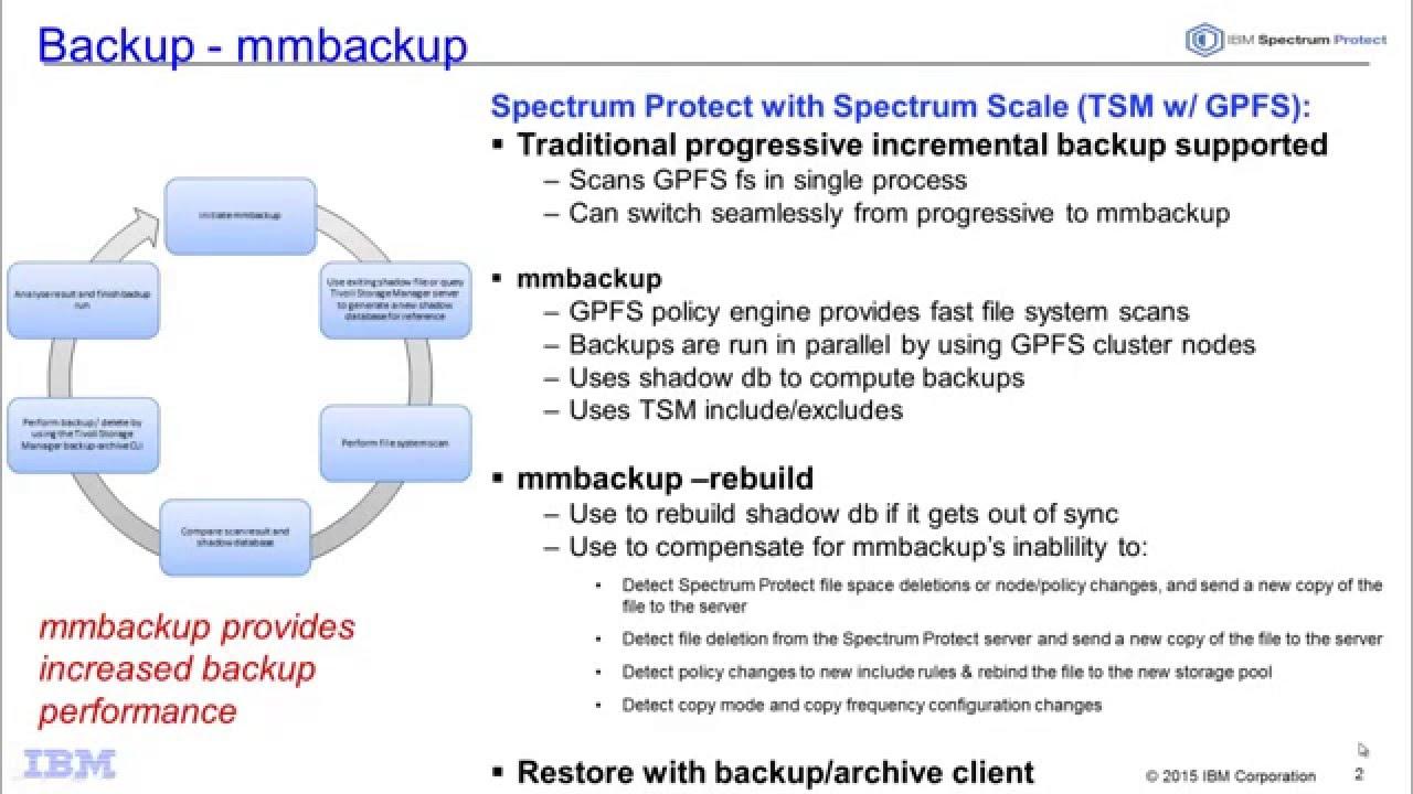 IBM Spectrum Protect 7 1 4 with Spectrum Scale mmbackup - Demo