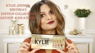 KYLIE JENNER BIRTHDAY EDITION COLLECTION | MATTE LIQUID LIPSTICK KIT + LEO | SWATCHES AND REVIEW