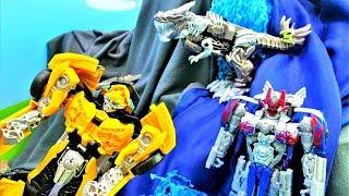 Трансформеры: Автоботы в ловушке Десептиконов! Видео для мальчиков.