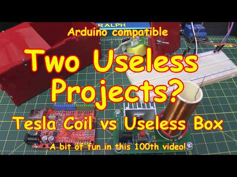 #100 Tesla Coil & Useless Box - with added value!