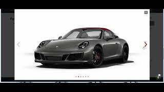 Configuring my fantasy Porsche 911 Targa 4 GTS!