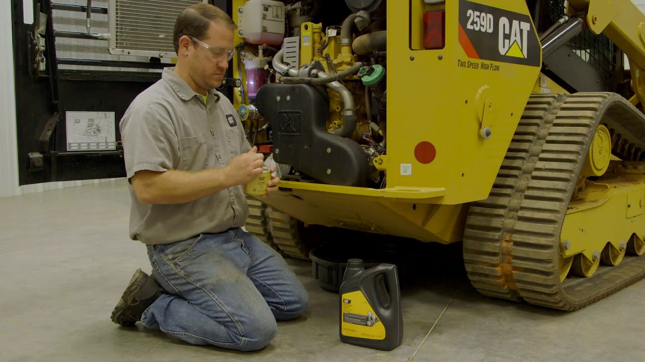 VIDEO] How to Change Caterpillar Skid Steer Engine Oil and Filter