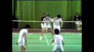 1982 Asian Games Badminton MD SF Luan Jin and Lin Jiang Li vs Park Joo Bong and partner