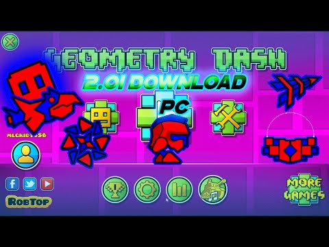 How To Download Geometry Dash 2.01 Free | PC [Updated]