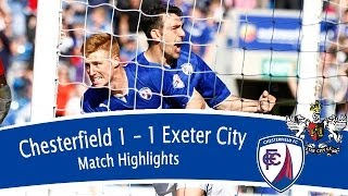 Chesterfield 1-1 Exeter City