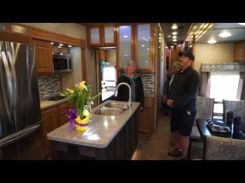 Ambition Luxury 5th wheel Customer First Time Look