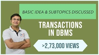 Transaction in Dbms | Transaction management | Transaction and concurrency control | DBMS