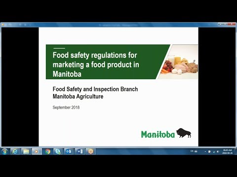 Food Safety Requirements For Marketing a Food Product in Manitoba