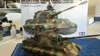 Building the Tamiya King Tiger including Painting and weathering