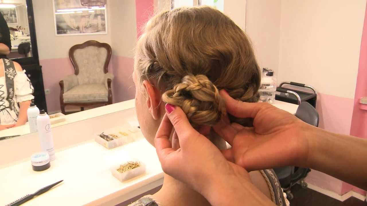 Oktoberfest Die Wiesn Frisur Für Lange Haare Youtube