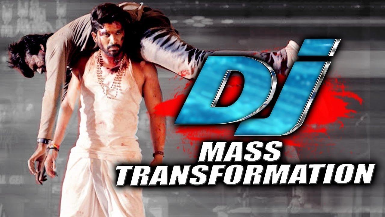 Allu Arjun Mass Transformation Scene From DJ (Duvvada Jagannadham) Hindi Dubbed