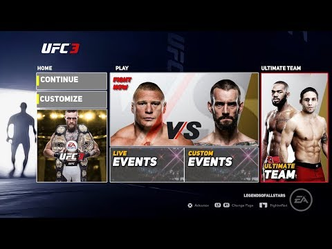 EA SPORTS UFC 3 FULL MAIN MENU REVEAL & ALL GAME MODES | CONCEPT/NOTION | PS4/XB1