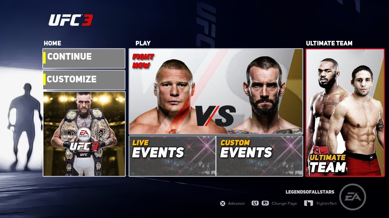 Ea Sports Ufc 3 Full Main Menu Reveal All Game Modes Concept Notion Ps4 Xb1 Youtube