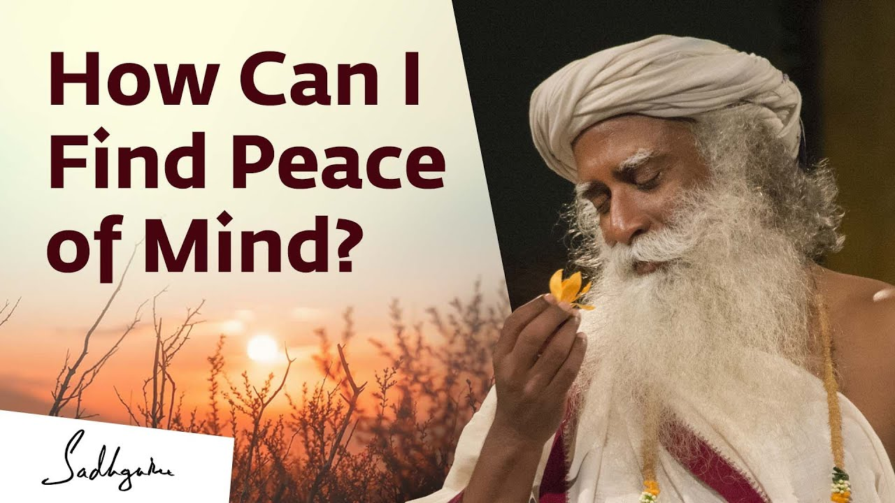 Download Your Peace in Your Control | Sadhguru