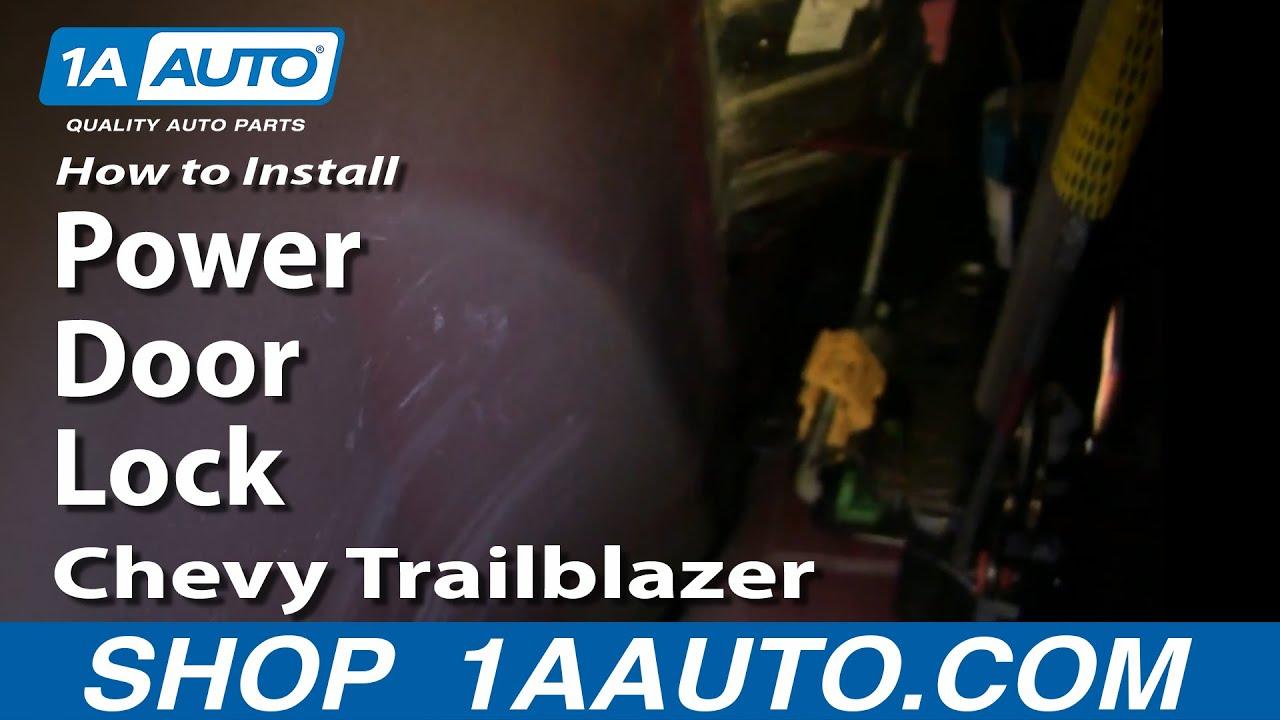 hight resolution of how to install repair replace broken rear power door lock chevy trailblazer 02 09 1aauto com