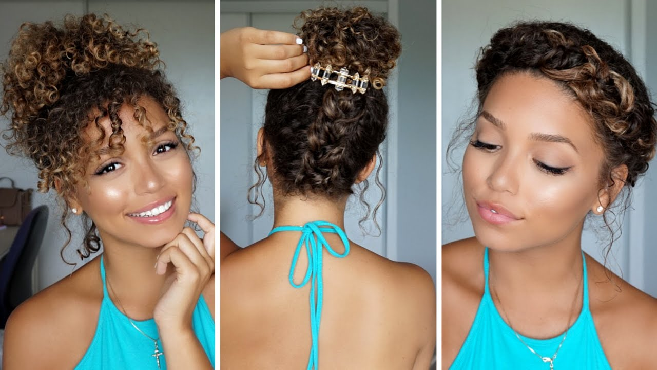 3 Summer Hairstyles for Curly Hair | Ashley Bloomfield - YouTube
