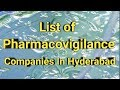 List Of Pharmacovigilance Companies in Hyderabad For Pharma Fresher's | In Pharma | Pharma Guide