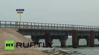 Russia: Temporary bridge connecting Crimea and Russia opened in the Kerch Strait