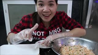 Vlog ăn vặt 13 ll Làm Chả Giò Ngon Cùng Ngâ