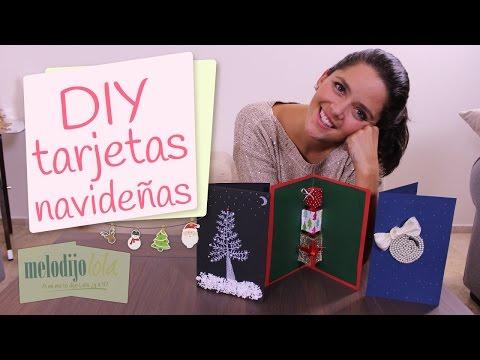 Cómo hacer tarjetas navideñas | DIY...