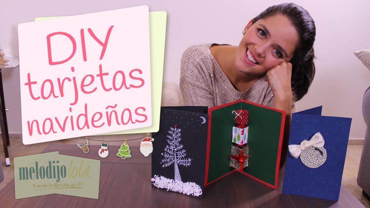 cmo hacer tarjetas navideas diy tarjetas para navidad tarjetas youtube