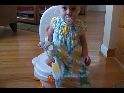 fisher price duck potty chair high back patio chairs review youtube