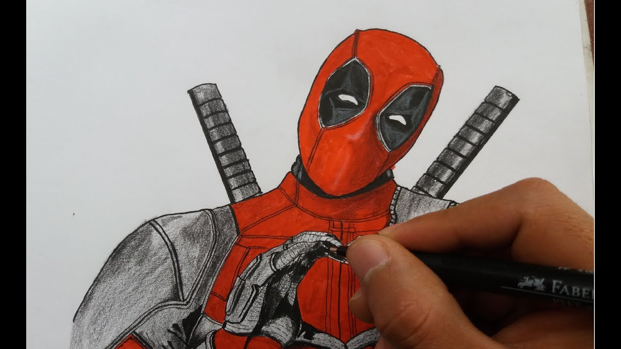 Dibujo De Deadpool Fácil Deadpool Kawaii Youtube