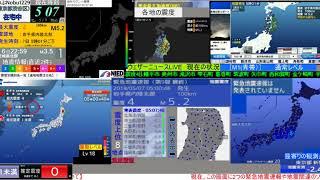 【緊急地震速報】2018年5月7日5:01ごろ発生 岩手県内陸北部 最大震度4