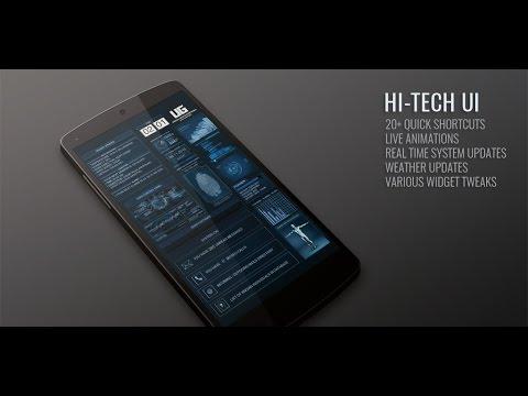 hi tech ui theme with animations youtube