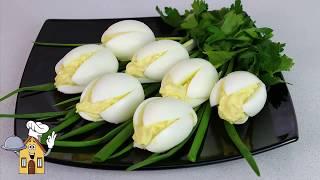 """Салат -  закуска """"Белые Тюльпаны"""".  Оригинальное - ПРОСТО!"""