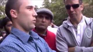 HP Speakers Corner-Christian Preacher schooled by Muslim!.
