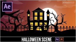 Video After Effects Tutorial: Halloween Scene Cartoon Animation download MP3, 3GP, MP4, WEBM, AVI, FLV Januari 2018