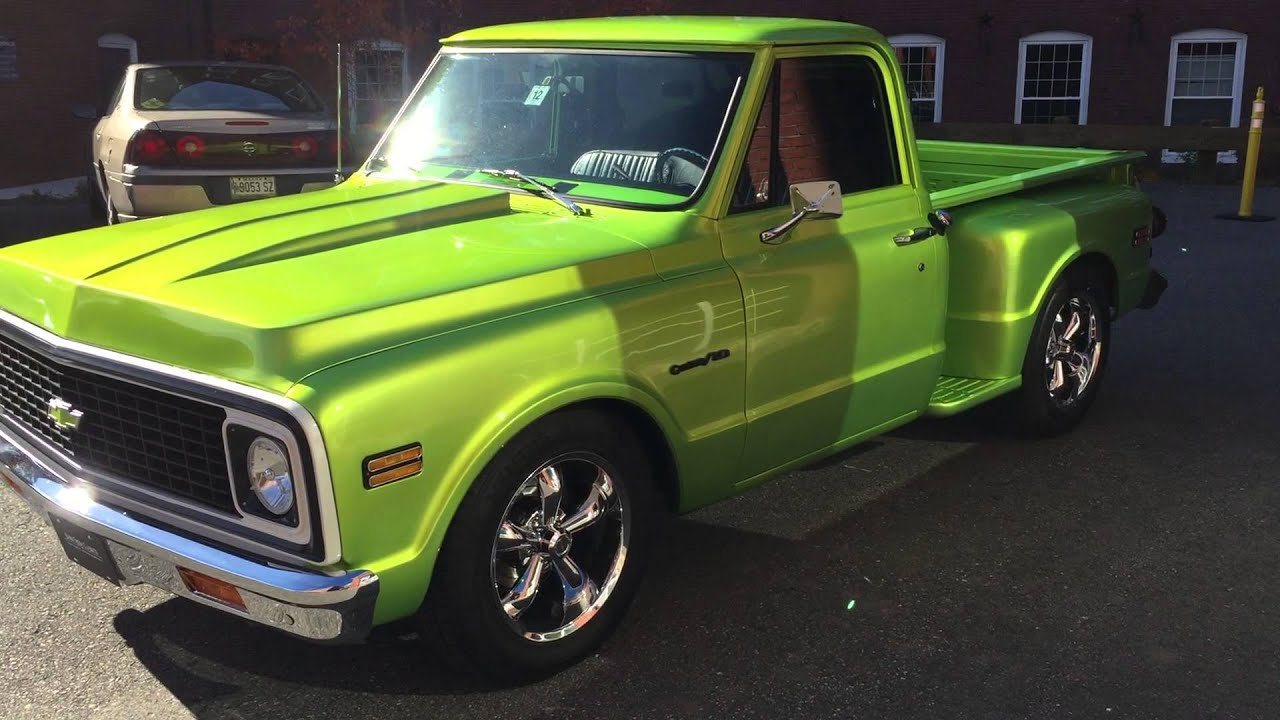 1972 chevrolet c10 stepside with a 454 gm chevy youtube. Black Bedroom Furniture Sets. Home Design Ideas