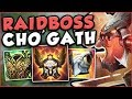 DO YOU LIKE FREE ELO?? YOU NEED TO SEE THIS CHO'GATH BUILD! CHO'GATH TOP GAMEPLAY! League of Legends