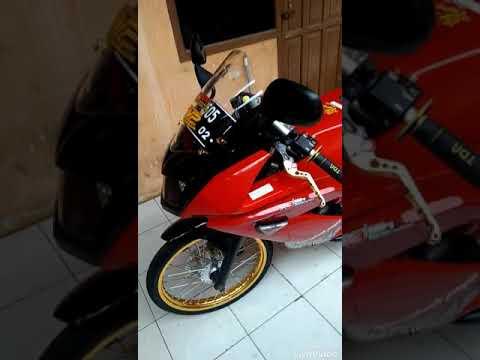 Ninja rr merah modifikasi