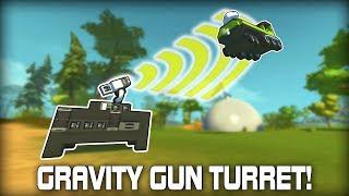 Gravity Gun Style Tractor Beam Auto Turret! (Scrap Mechanic #326)