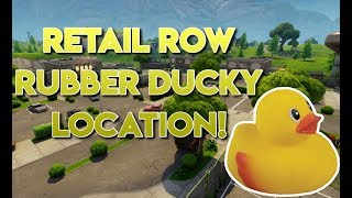 Fortnite Retail Row Rubber Ducky Location!!