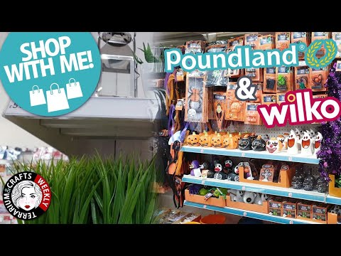 POUNDLAND SHOP WITH ME -POUNDLAND NEW IN september 2019- Halloween. WILKO shop with me (mini) 2019