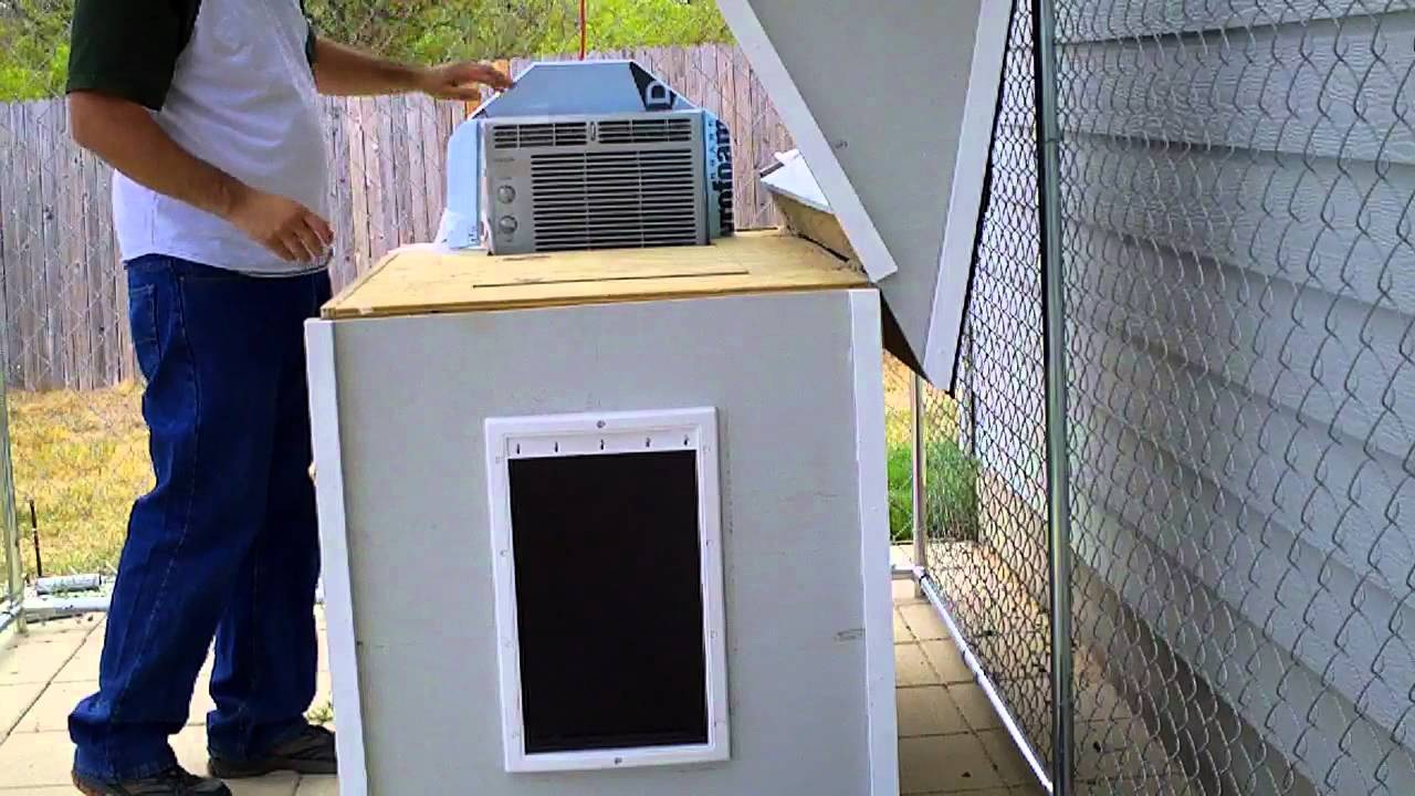 air conditioned dog house - youtube