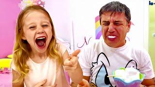 Nastya aprende a hacer una broma con papá, una nueva historiapara niños