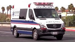 DESERT ambulance responding w/ yelp